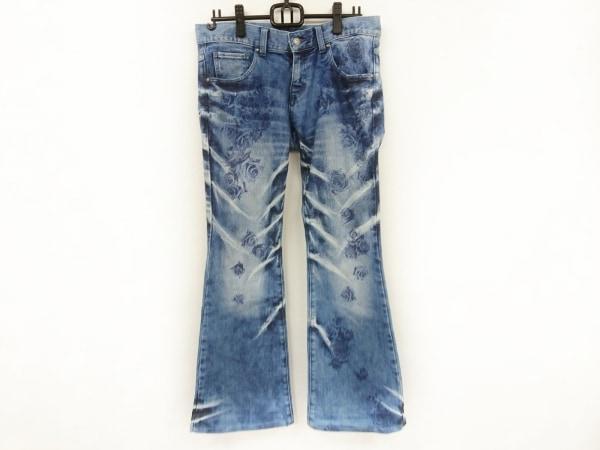 トルネードマート ジーンズ サイズM メンズ美品  ブルー×ネイビー フラワー