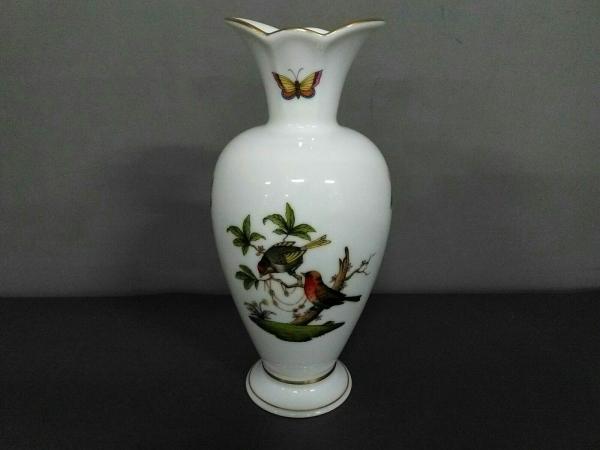 Herend(ヘレンド) 小物美品  白×グリーン×マルチ 花瓶 陶器