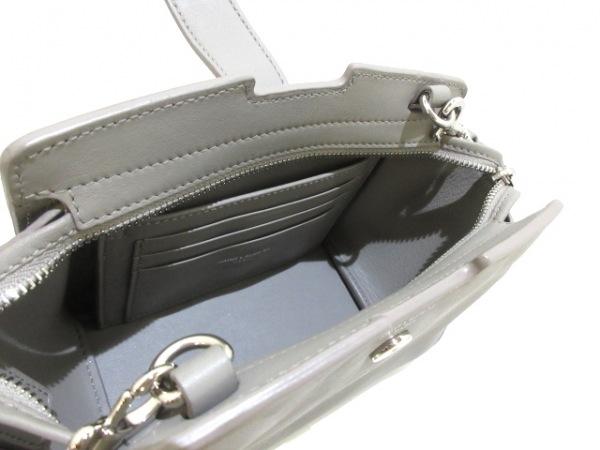 サンローランパリ ショルダーバッグ美品  Yライン トイ カバス 452322 グレー