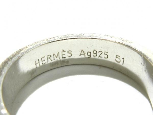 HERMES(エルメス) リング 51 ブックルセリエ シルバー