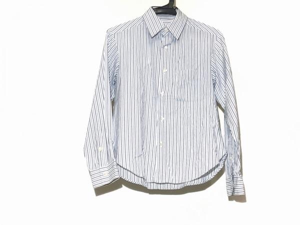 ヨウジヤマモト 長袖シャツ サイズ2 M レディース 白×ネイビー×ライトブルー