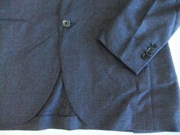 カンタレリ ジャケット サイズ48 XL メンズ美品  ダークグレー×ボルドー×グレー