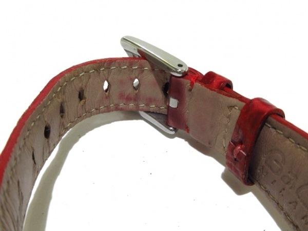 ガガミラノ 腕時計 MANUALE 40 5020.5 レディース シェル文字盤/革ベルト型押し 白