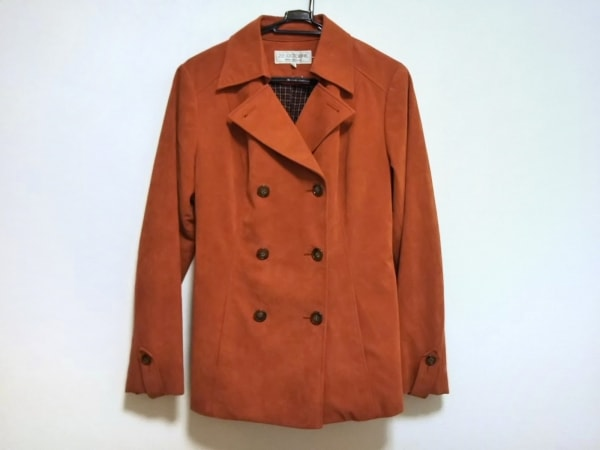 22OCTOBRE(ヴァンドゥ オクトーブル) コート サイズ44 L レディース美品  オレンジ