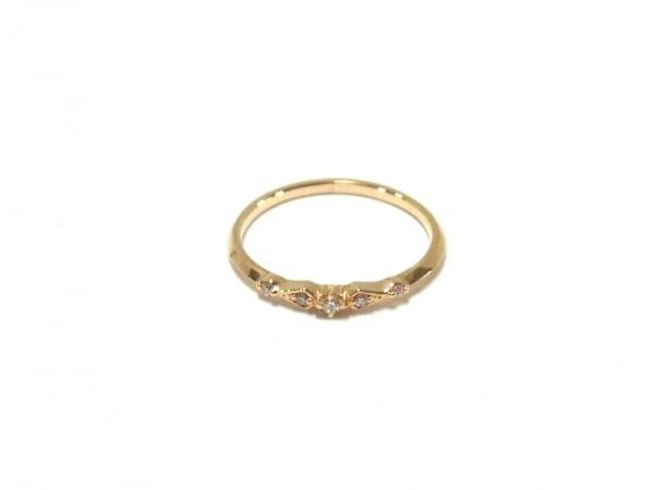 agete(アガット) リング美品  K10×ダイヤモンド 5Pダイヤ/0.04カラット