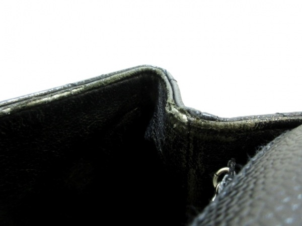 CHANEL(シャネル) ハンドバッグ マトラッセ A12397 黒 シルバー金具 キャビアスキン
