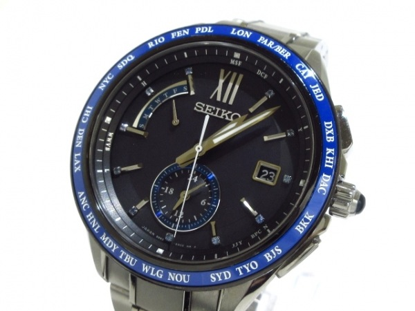 SEIKO(セイコー) 腕時計 ブライツ 8B63-0AC0/SAGA237 メンズ 黒