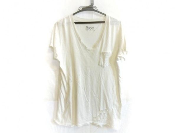 Ron Herman(ロンハーマン) 半袖Tシャツ サイズS メンズ 白 ダメージ加工/8100