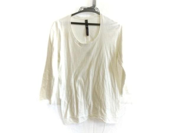 WJK(ダブルジェイケイ) 七分袖Tシャツ サイズS メンズ アイボリー 切りっぱなし加工