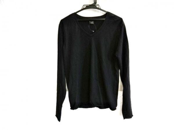 WJK(ダブルジェイケイ) 長袖Tシャツ サイズM メンズ 黒 切りっぱなし加工