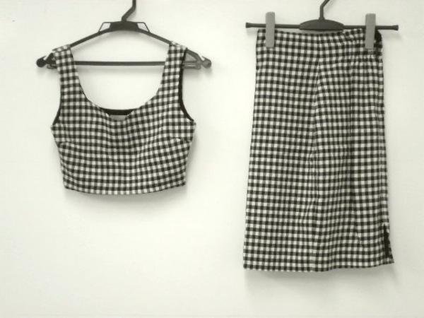 スナイデル スカートセットアップ サイズ0 XS レディース美品  黒×白 チェック柄