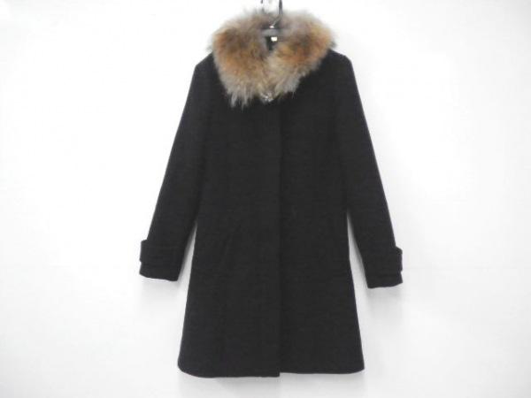 Noela(ノエラ) コート サイズS レディース新品同様  黒 ファー/ビジュー/冬物
