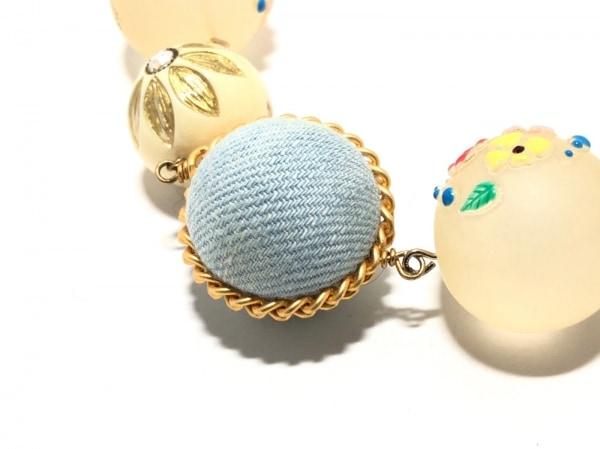 joujou(ジュジュ) ネックレス美品  フェイクパール×プラスチック×デニム×金属素材