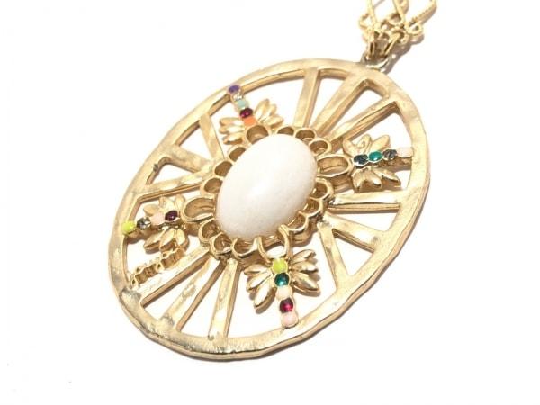 ジュジュ ネックレス美品  金属素材×プラスチック×ラインストーン ゴールド×マルチ