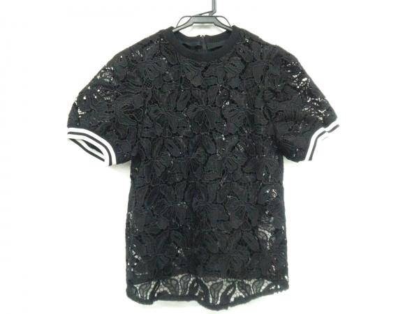 ボーダーズアットバルコニー 半袖カットソー サイズ36 S レディース 黒×白