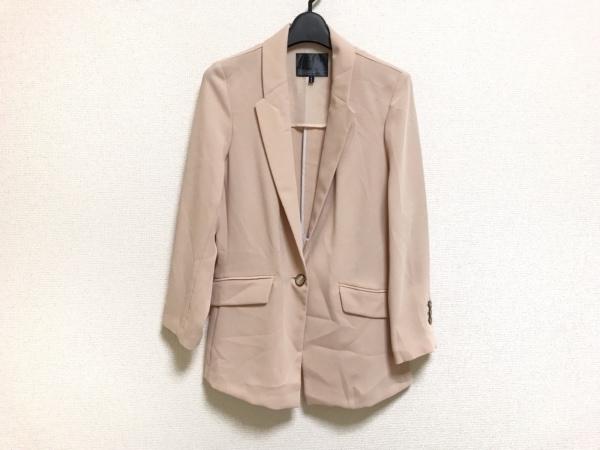 qualite(カリテ) ジャケット サイズ2 M レディース美品  ベージュ×白×グレー