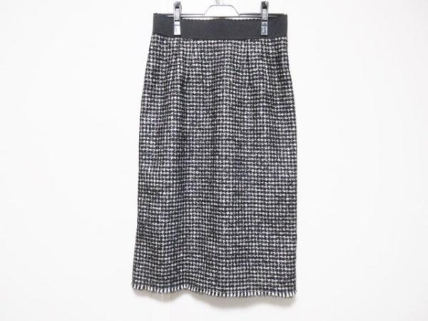 ドルチェアンドガッバーナ スカート サイズ40 M レディース 黒×白 千鳥格子