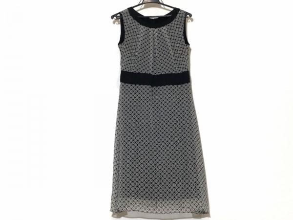 クレージュ ワンピース サイズ38 M レディース美品  黒×白×ベージュ 花柄/ドット柄