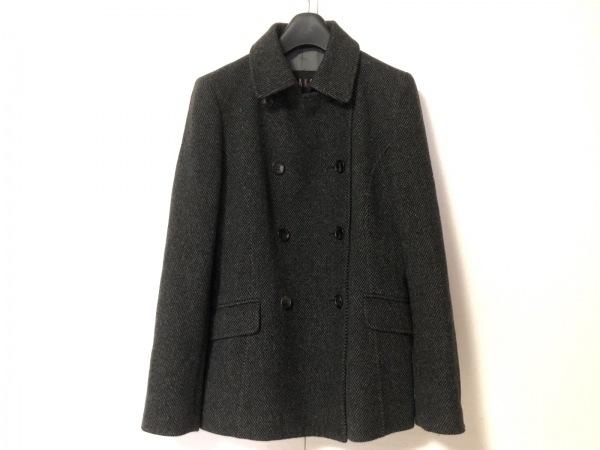 DAKS(ダックス) Pコート サイズ38 L レディース 黒×グレー 冬物