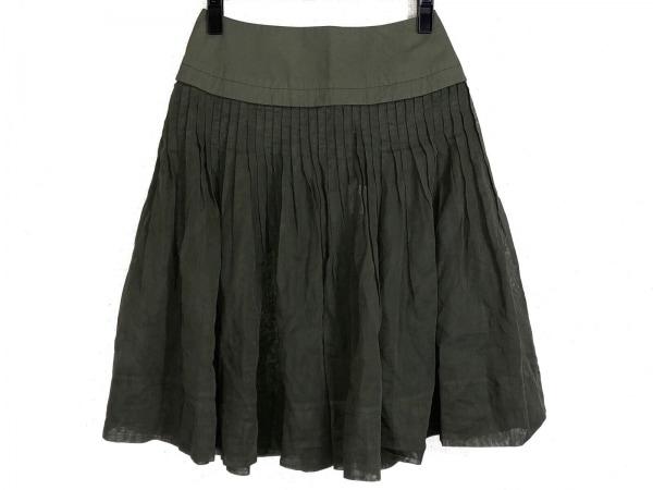 HIROKO BIS(ヒロコビス) スカート サイズ9 M レディース カーキ シースルー