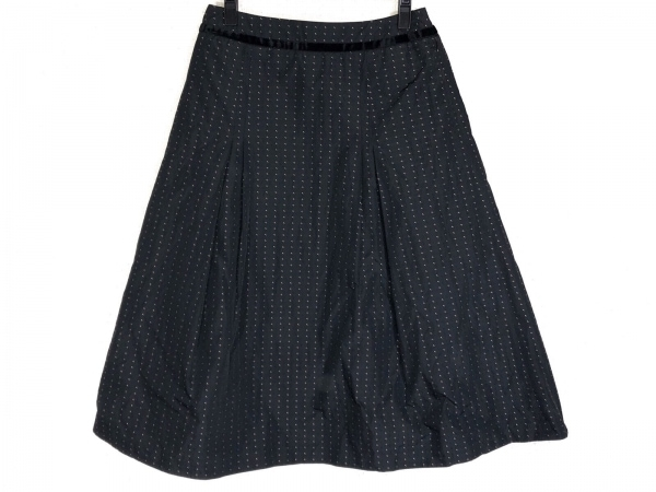 HIROKO BIS(ヒロコビス) スカート サイズ13AB L レディース 黒×ベージュ×アイボリー