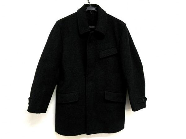 コムデギャルソンオム コート サイズM メンズ 黒×グレー 冬物