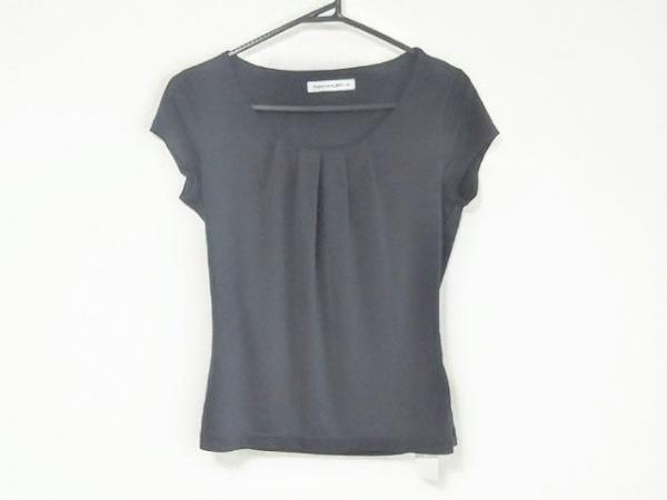 エムプルミエブラック 半袖Tシャツ サイズ38 M レディース 黒 プリーツ