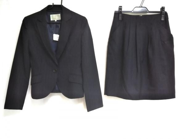 ノールシュド スカートスーツ サイズ36 S レディース美品  ダークネイビー×ブルー