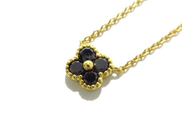PonteVecchio(ポンテヴェキオ) ネックレス美品  K18YG×ダイヤモンド×ブラックダイヤ