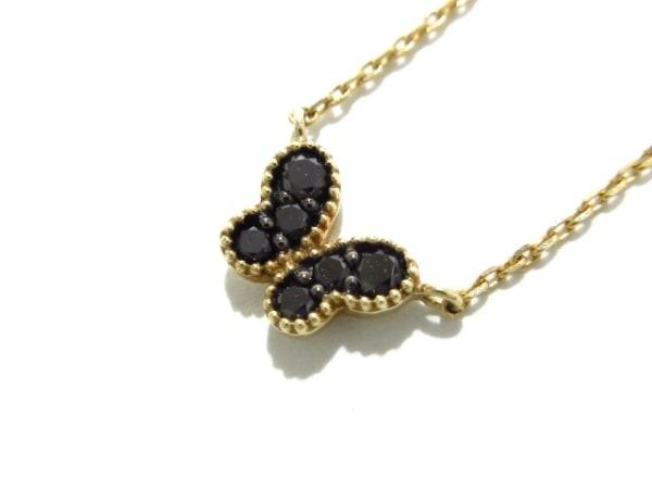 PonteVecchio(ポンテヴェキオ) ネックレス美品  K10YG×ブラックダイヤ 0.08c/蝶