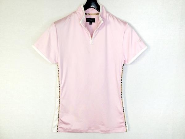BURBERRYGOLF(バーバリーゴルフ) 半袖カットソー サイズS レディース ピンク×白