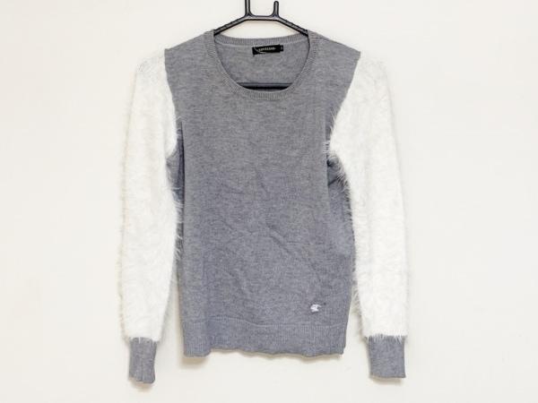 LOVELESS(ラブレス) 長袖セーター サイズ34 S レディース グレー×白