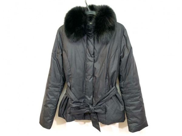 ef-de(エフデ) ダウンジャケット サイズ9 M レディース 黒 フォックスファー/冬物