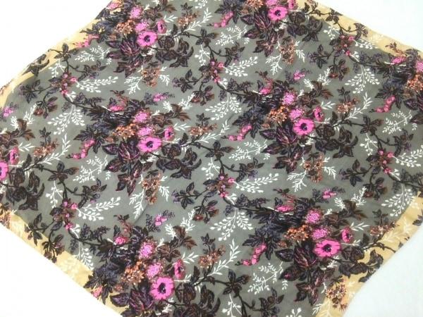 EPICE(エピス) スカーフ美品  グレージュ×ピンク×マルチ 花柄