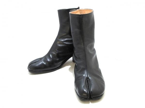 マルタンマルジェラ ショートブーツ 42 メンズ美品  黒 アウトソール張替済/足袋