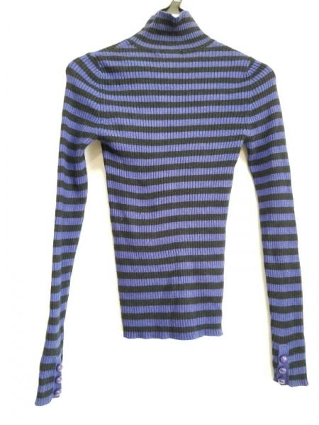 ソニアリキエル 長袖セーター サイズ32 XS レディース ブルー×黒 2