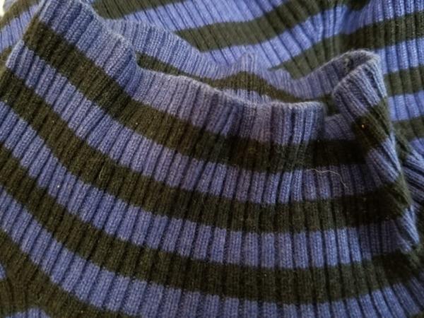 ソニアリキエル 長袖セーター サイズ32 XS レディース ブルー×黒 5