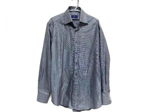 ETRO(エトロ) 長袖シャツ サイズ41 メンズ 黒×白 チェック柄