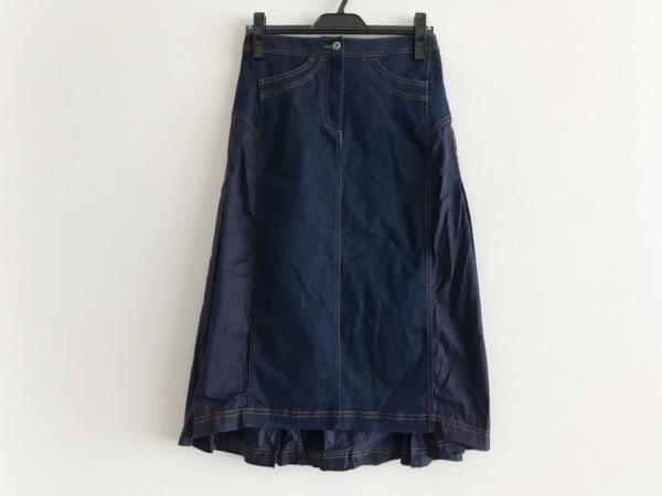 HIROKO BIS(ヒロコビス) スカート サイズ9 M レディース美品  ネイビー