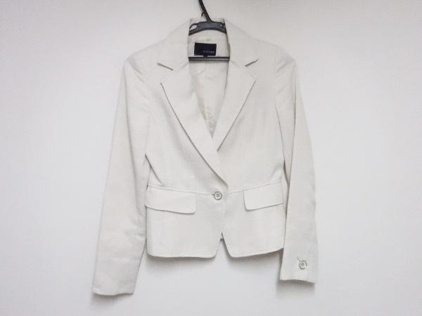 22OCTOBRE(ヴァンドゥ オクトーブル) ジャケット サイズ36 S レディース アイボリー