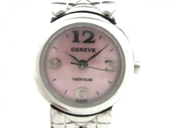 GENEVE YACHT CLUB(ジュネーブヨットクラブ) 腕時計美品  - レディース ピンク