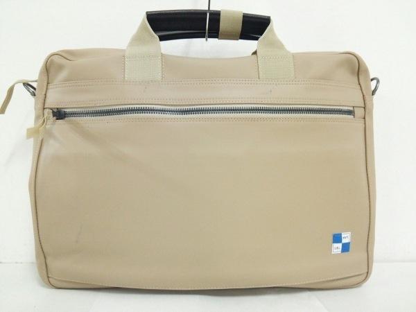 ハーベストレーベル ビジネスバッグ美品  カーキ×黒 PVC(塩化ビニール)×レザー