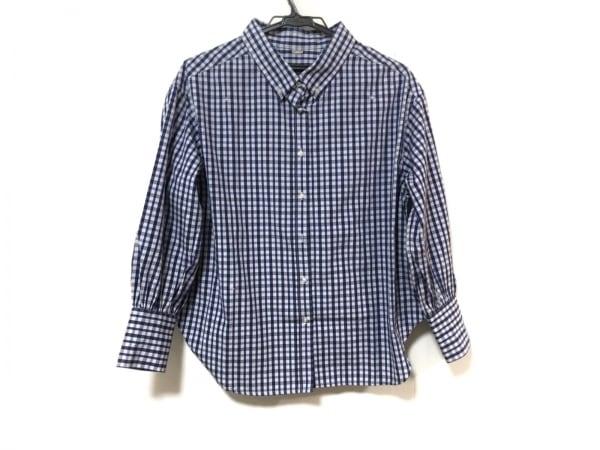 ミラオーウェン 長袖シャツブラウス サイズ0 XS レディース美品  ブルー×白×マルチ