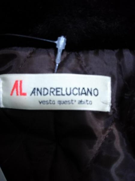 ANDRE LUCIANO(アンドレルチアーノ) コート レディース美品  ダークブラウン×黒 冬物