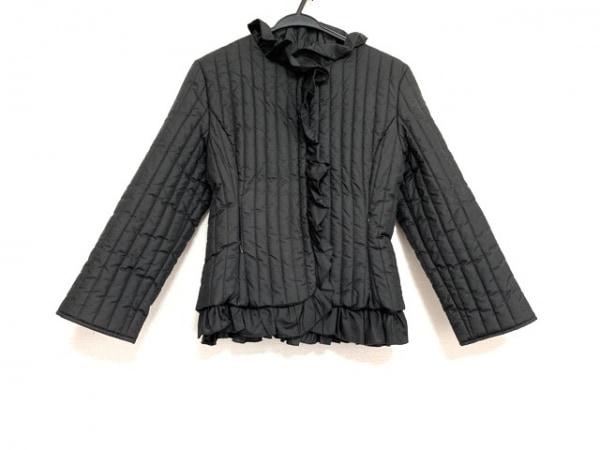 ラルトラモーダ コート サイズS レディース美品  黒 キルティング/フリル/冬物