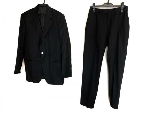 LOUIS VUITTON(ルイヴィトン) シングルスーツ サイズ48 L メンズ 黒×ダークグレー