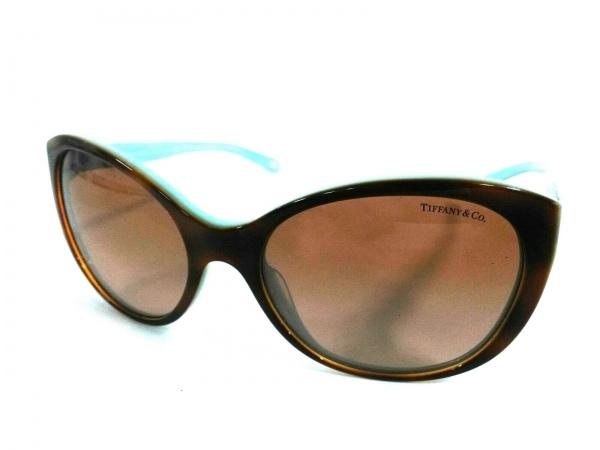 ティファニー サングラス TF4086-H ダークブラウン×ライトブルー×シェルホワイト