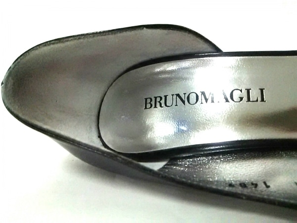 BRUNOMAGLI(ブルーノマリ) パンプス 36 1/2 レディース 黒×シルバー レザー