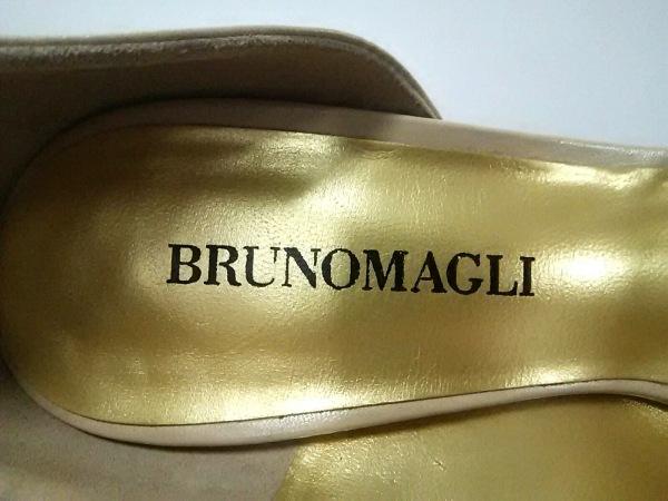 BRUNOMAGLI(ブルーノマリ) パンプス 36 1/2 レディース ベージュ×ゴールド レザー