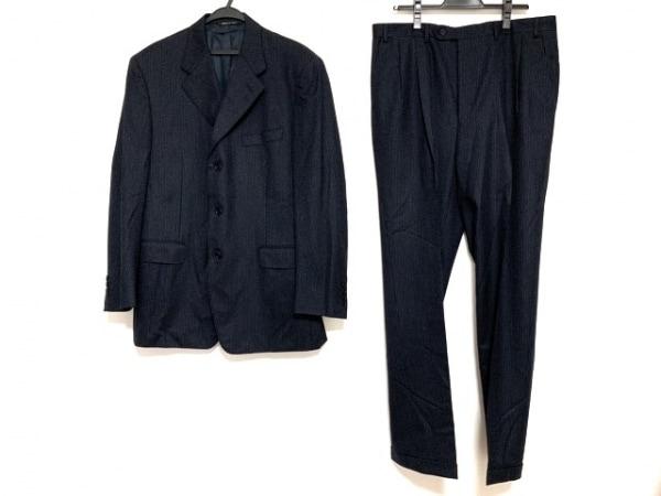 CANALI(カナーリ) シングルスーツ サイズ52 メンズ ダークネイビー×グレー